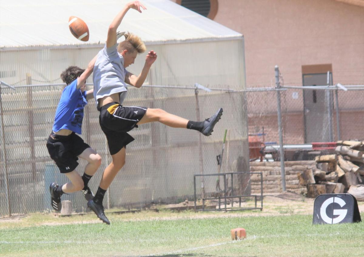 Blue Devils, Tigers compete in passing competition