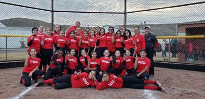 Lowell MS softball team 2019