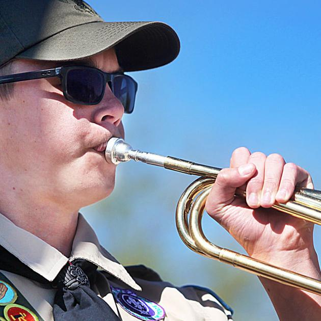4187d6045 Paying tribute to fallen heroes: Hundreds attend Memorial Day ceremony at  Veterans' Memorial Cemetery | Community | myheraldreview.com