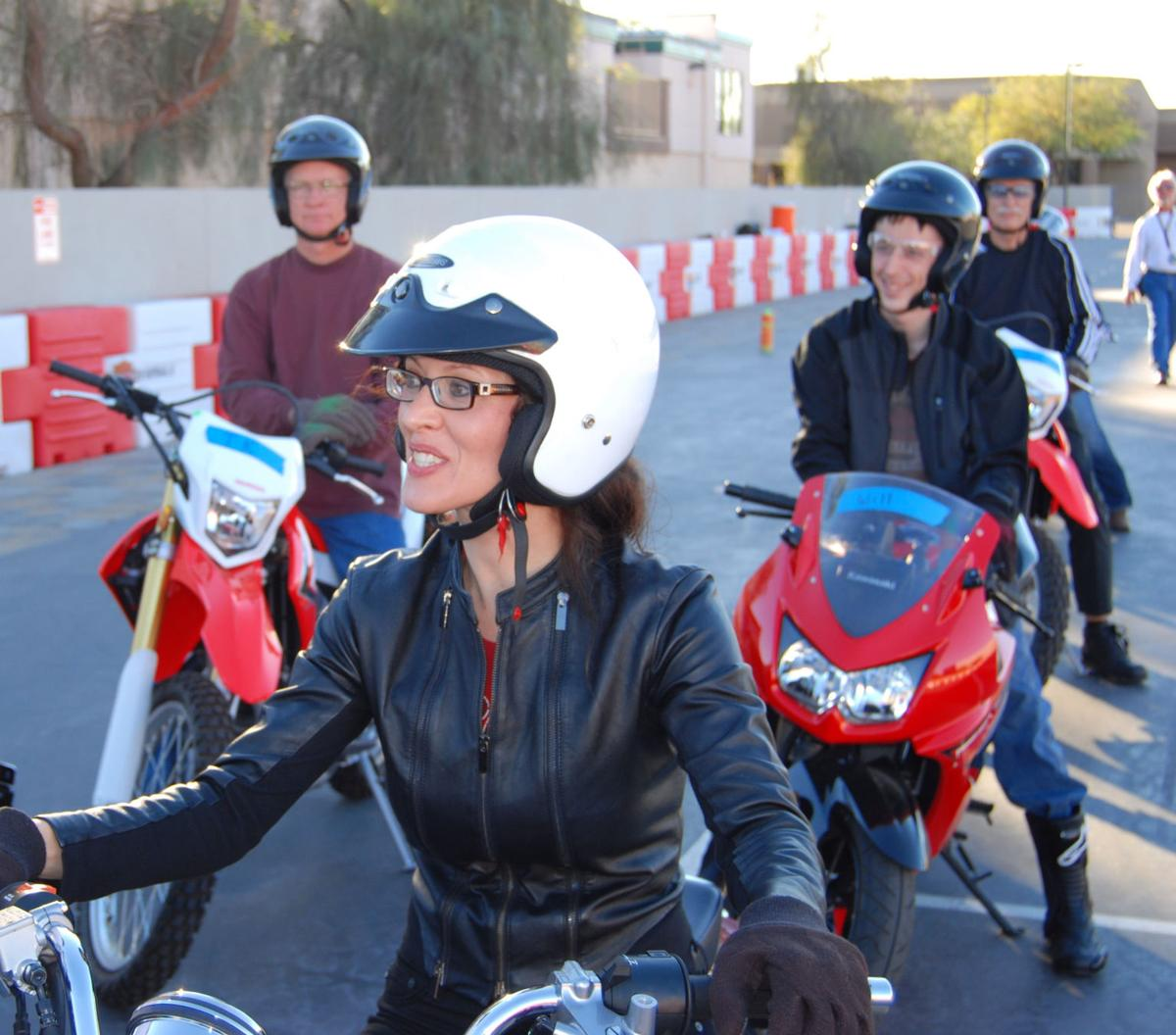 City grows its motorcycle cred local news stories riders gather for a recent motorcycle training class in sierra vista offered by team arizona motorcycle xflitez Gallery