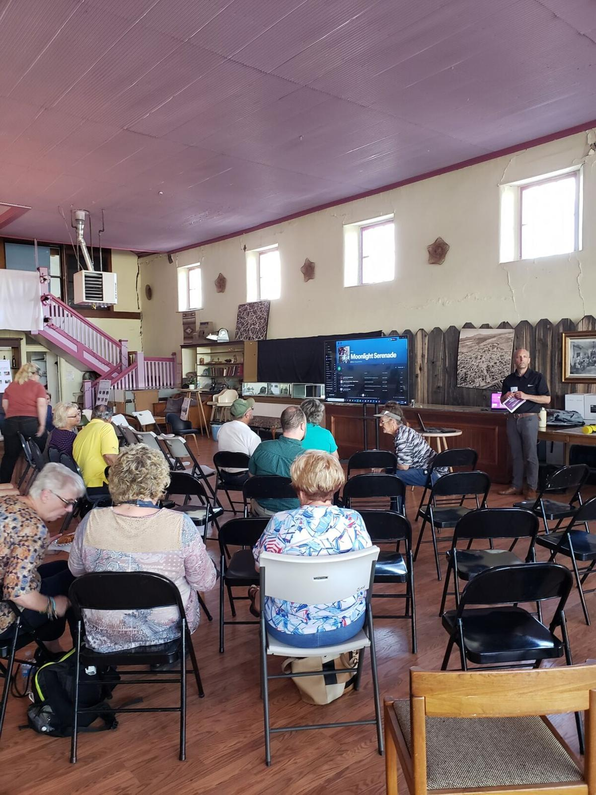 Crowd shot from Downtown Willcox Revitalization Town Hall on Tuesday