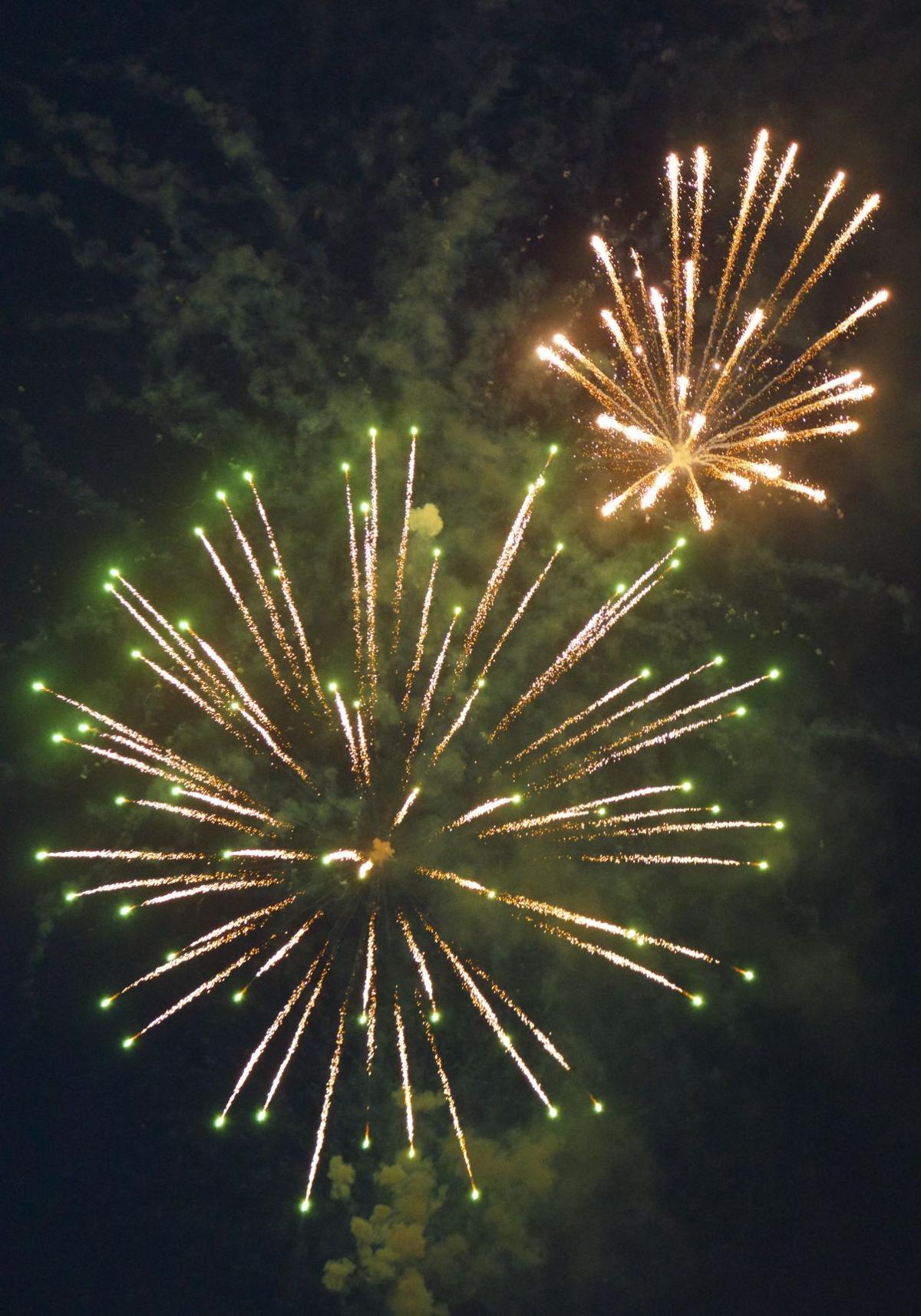 Benson lights up the sky