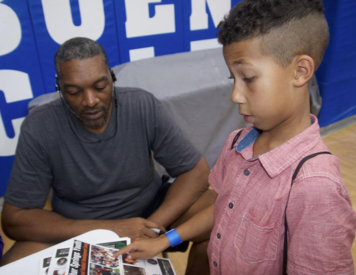Photos: SSVEC brings experts for football, basketball camps