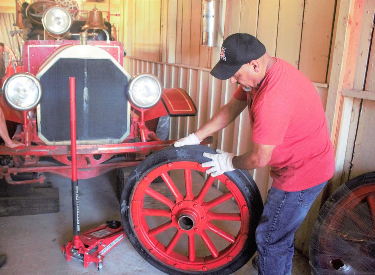 Douglas' antique fire truck 'can roll once again'