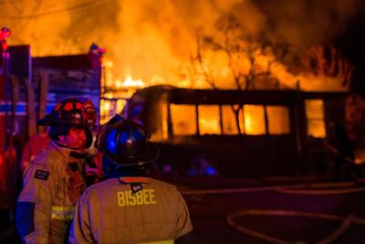 BFD battled vblaze of two homes, prevented damage to others