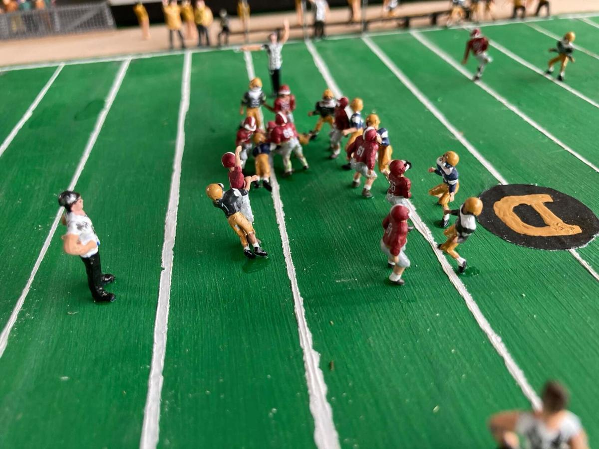 Douglas resident build miniature replica of DHS stadium