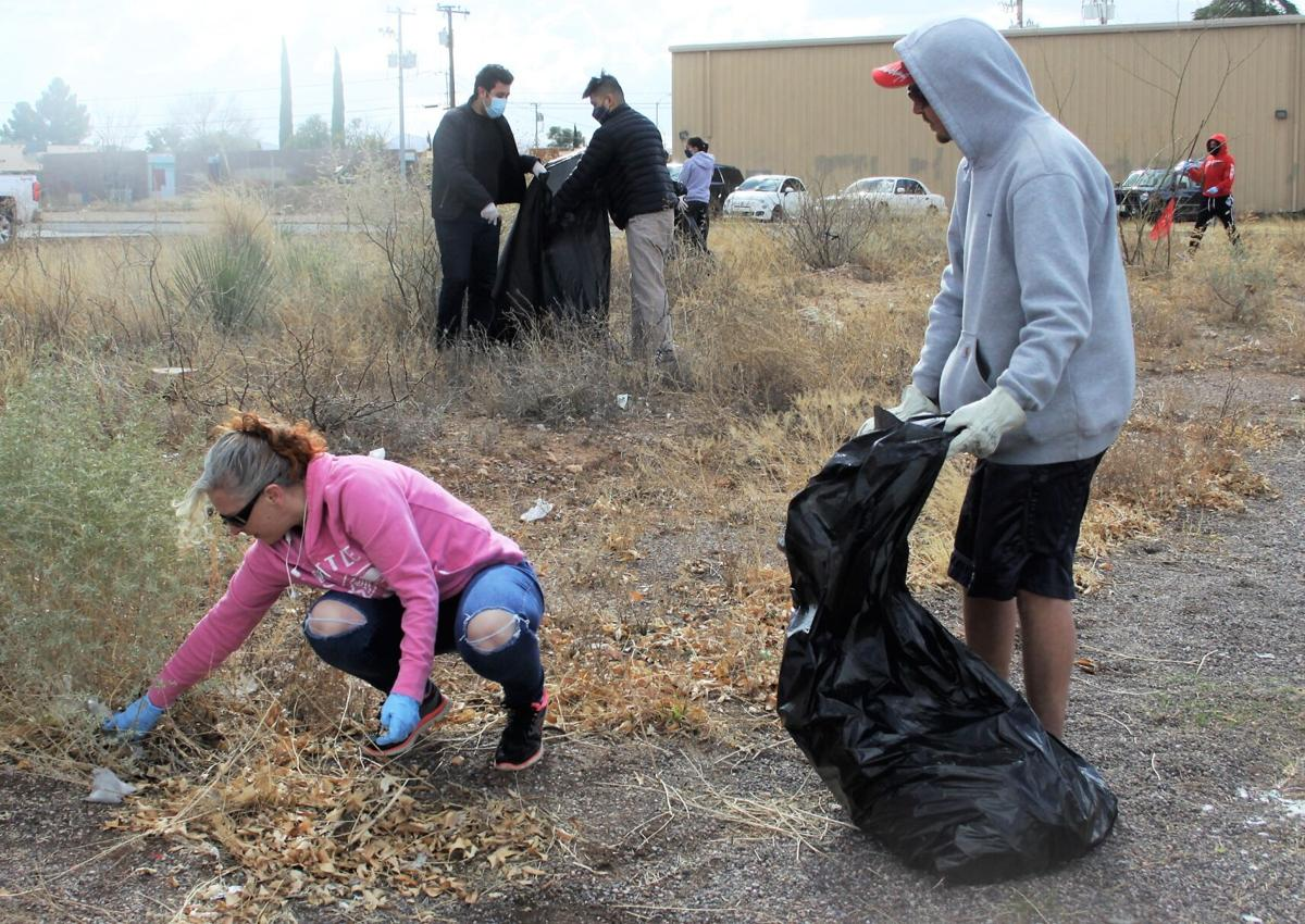 Cochise College students assist in community clean-up