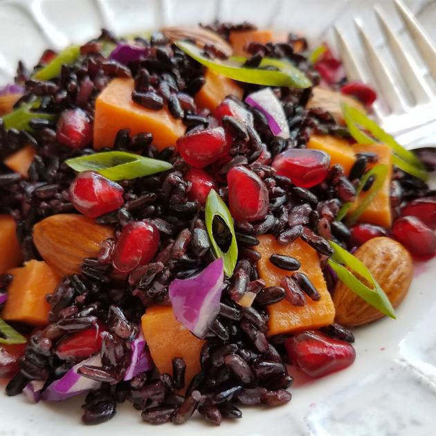 Black Rice with Pomegranate and Sweet Potato | Living ...
