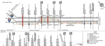 truck lanes map