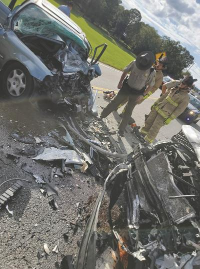 Houston Johnson, 29, of Hiram posted on Facebook this photo of a horrific wreck on Saturday in which he was involved.