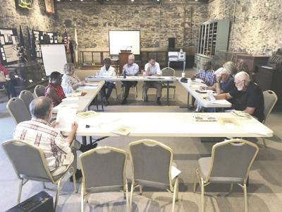 The Bicentennial Commission holds its first meeting last Thursday in the Conley Building.