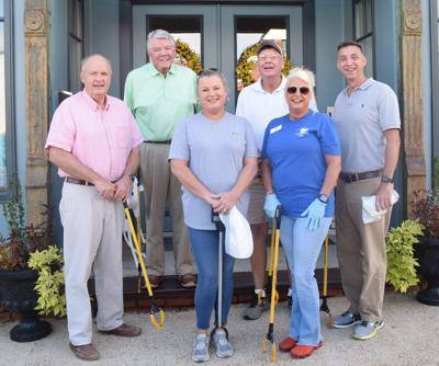 Ready to clean up Forsyth, pictured, left to right, are Wendell Horne, Carl Reynolds, Rebecca Stone, Tom Perry, Pam Davis, Eric Wilson.