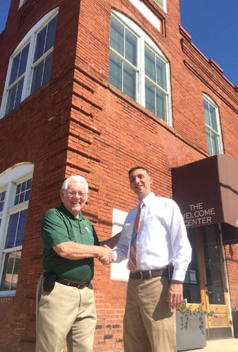 The mayor of Forsyth, and Eric Wilson