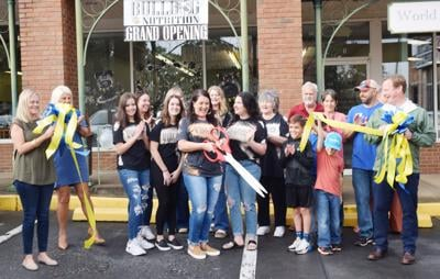 Forsyth Monroe County Chamber of Commerce hosted a Ribbon Cutting for Bulldog Nutrition on Oct. 6. Owner Jessica Bates operates the store with her daughter, Paige, and her daughter Kallie also works at Bulldog Nutrition. Her parents came from Louisiana to celebrate the ribbon cutting.