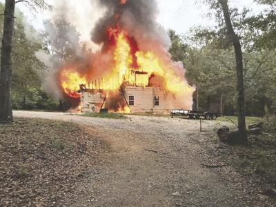 The home of Christiaan Garner and Ashley Backus was destroyed by fire last Tuesday. (Photo courtesy MCES)