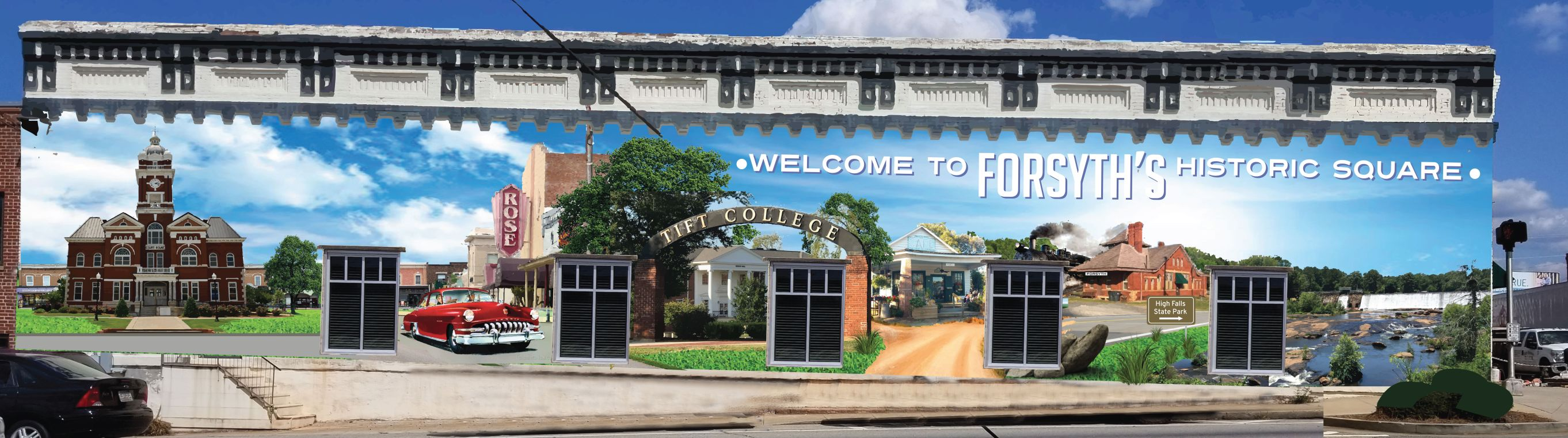An Artistic Rendering Of The Iconic Monroe County Mural Approved On Monday  For The Ingram Entities Office Facing The Square. (Courtesy Otis Ingram)