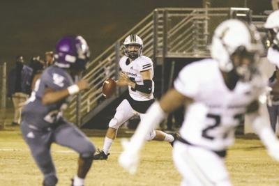 MP quarterback Logan Hickman had the best game of his career in a 22-17 win over Upson on Friday. (Photo/Russ Campbell)