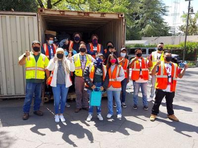 Earth Day clean-up in St. Helena