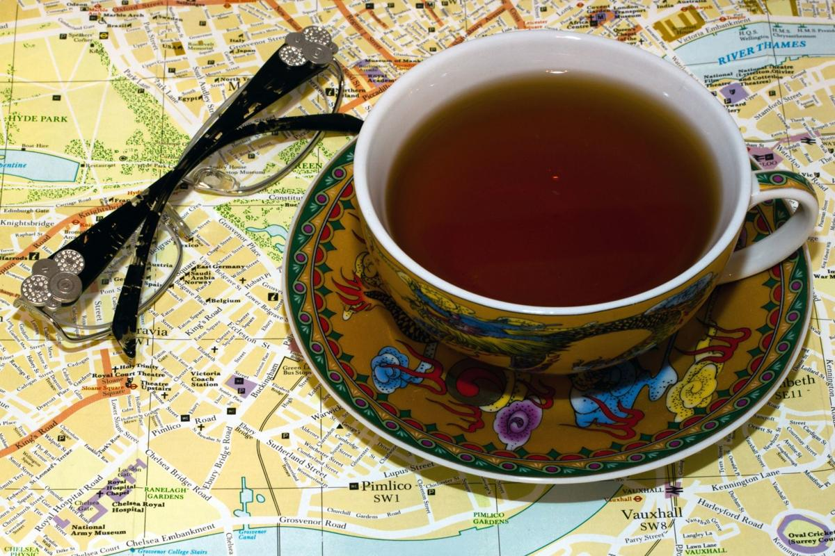 Tea and map