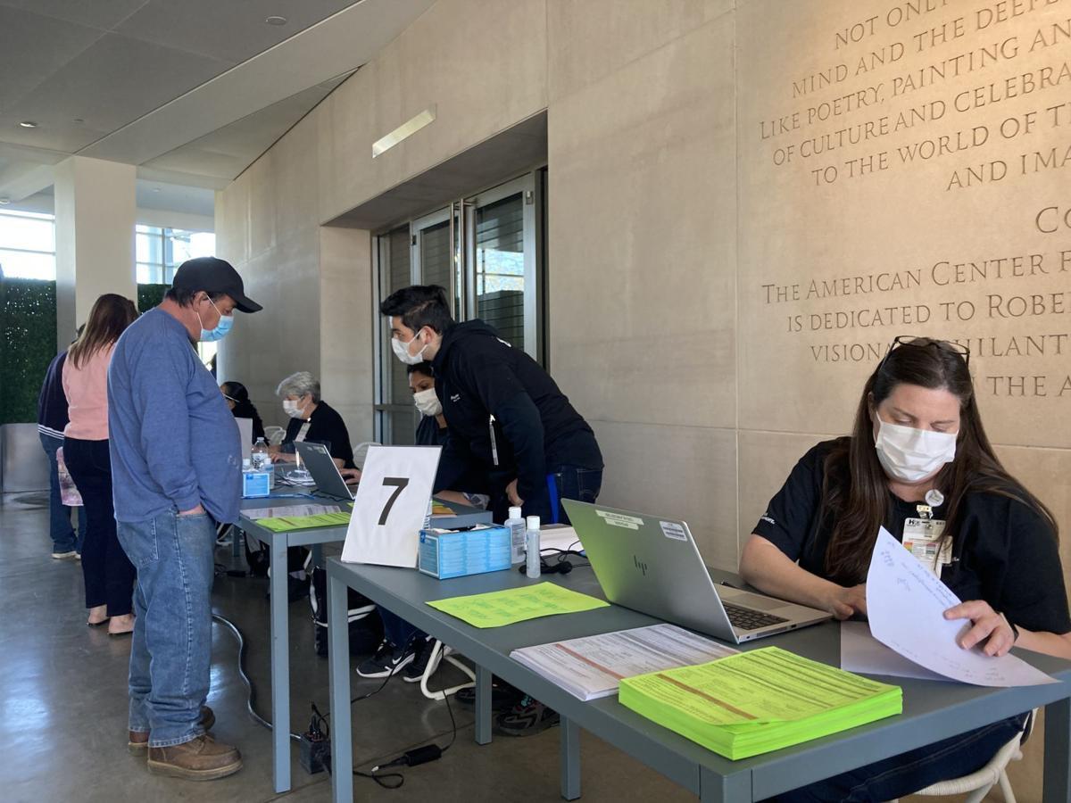 Mass vaccination clinic at CIA at Copia