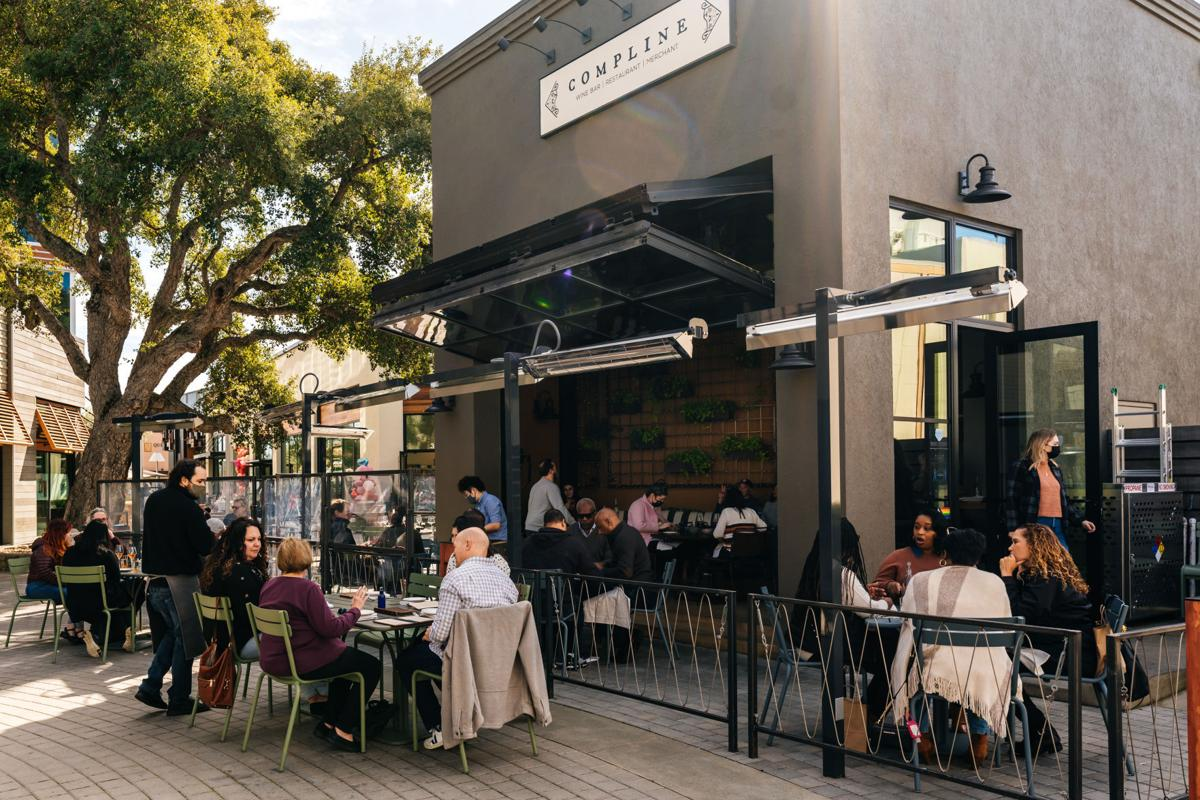Compline outdoor dining in downtown Napa