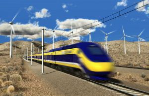 A conceptual illustration of California's bullet train. Image by NC3D via Flickr