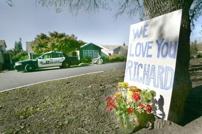 Memorial at Scene of Officer Involved Shooting