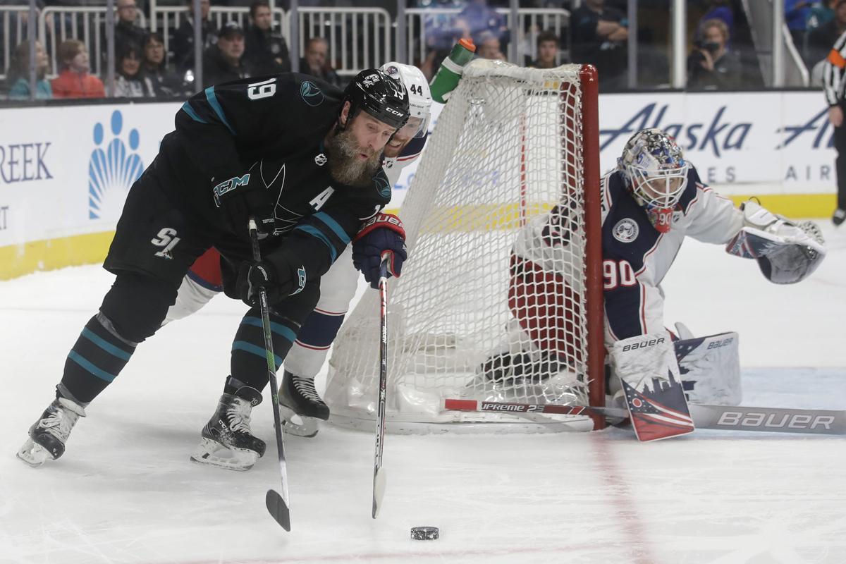 Blue Jackets Sharks Hockey
