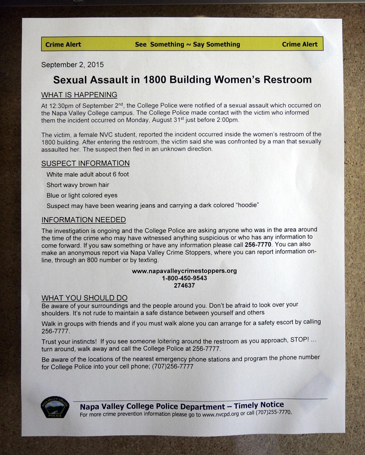 Napa Valley College Sexual Assault