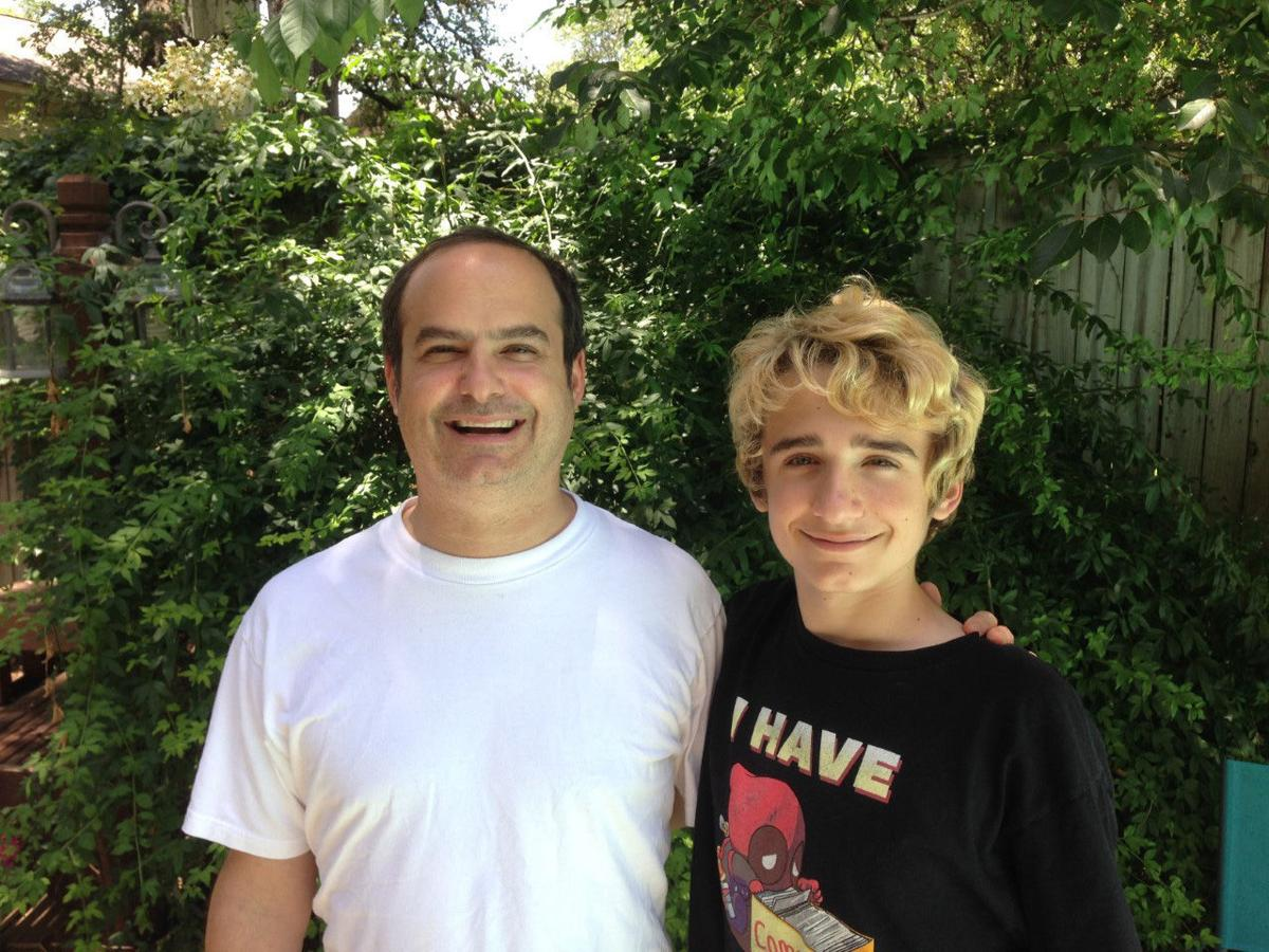 Neal Pollack and his son Elijah