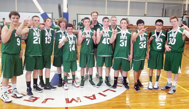 NVBA eighth-graders team