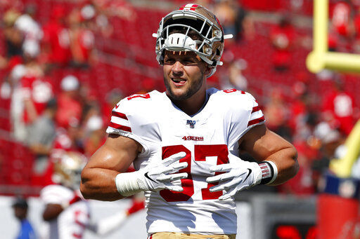 49ers rookie Nick Bosa not practicing with team in Ohio