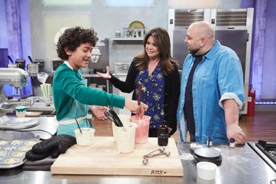 Justice Faustina bakes on Food Network