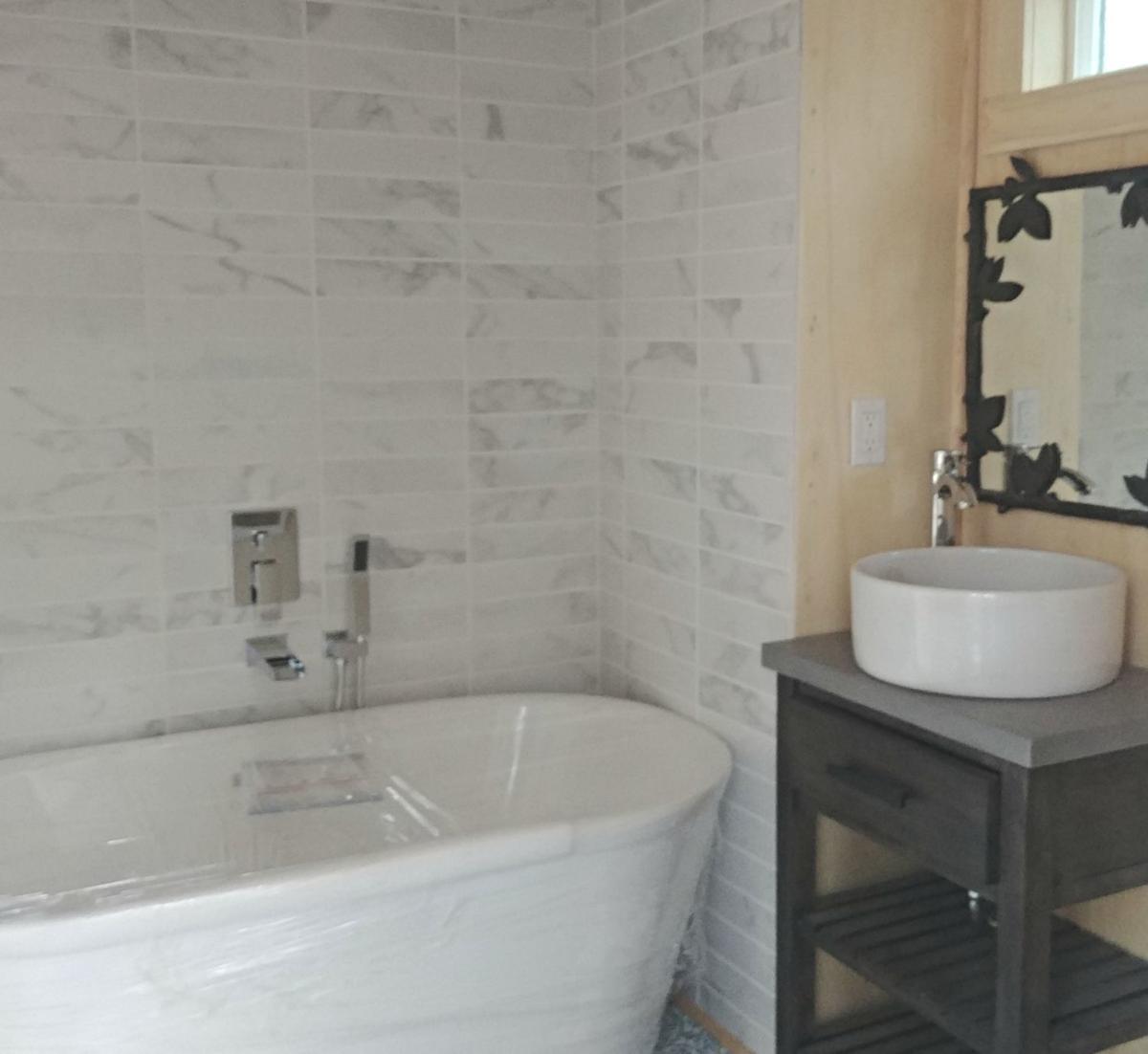 Bathroom of the tiny house