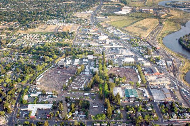 BottleRock aerial view