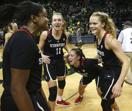 McPhee helps No. 24 Stanford upset No. 6 Oregon 78-65