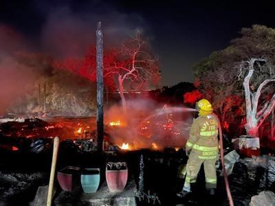 Grandview Avenue house fire in Napa County