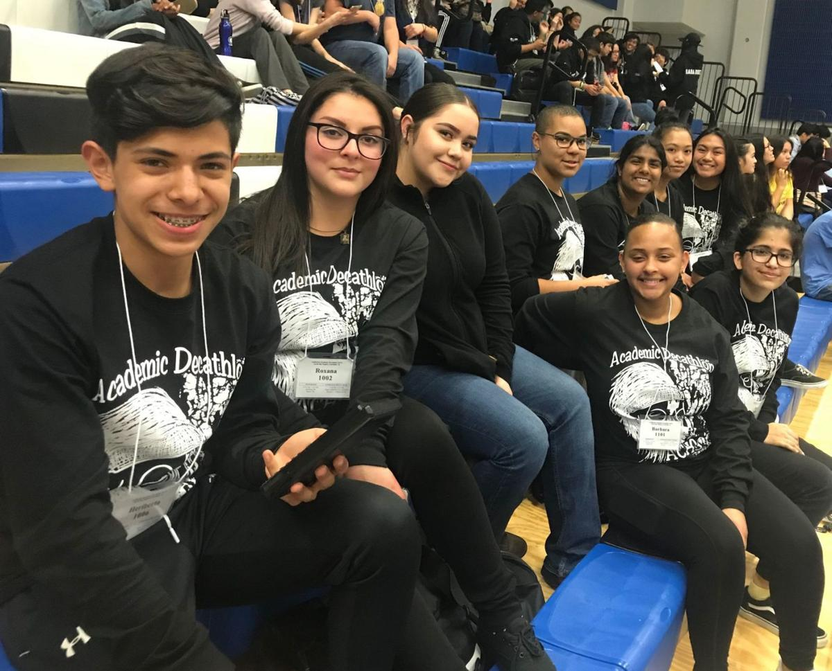 American Canyon High decathlon team 2018
