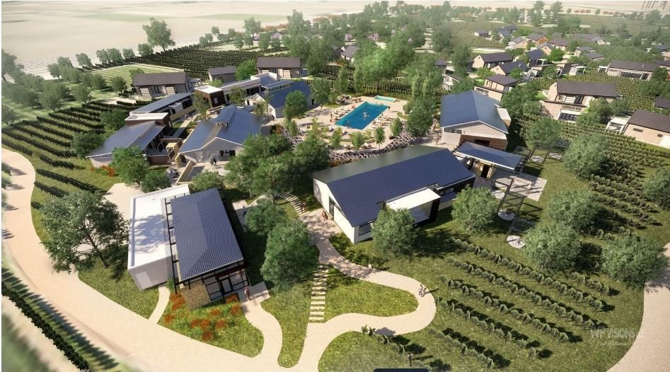An artist image of the planned Stanly Ranch resort in south Napa