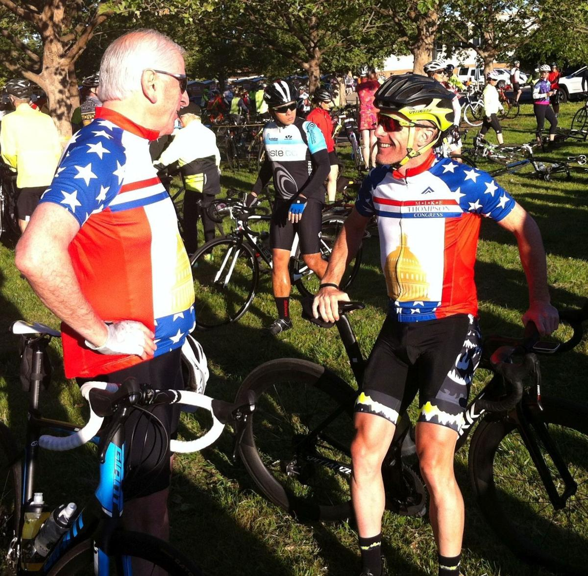 Mike Thompson and Levi Leipheimer