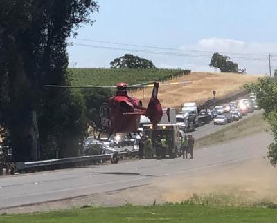 3 children, 2 adults transported with injuries following Napa County wreck