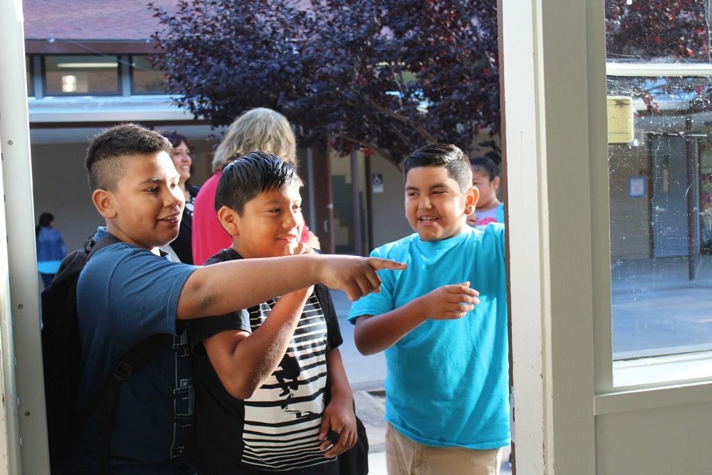 First day of school, Calistoga Elementary School 2015