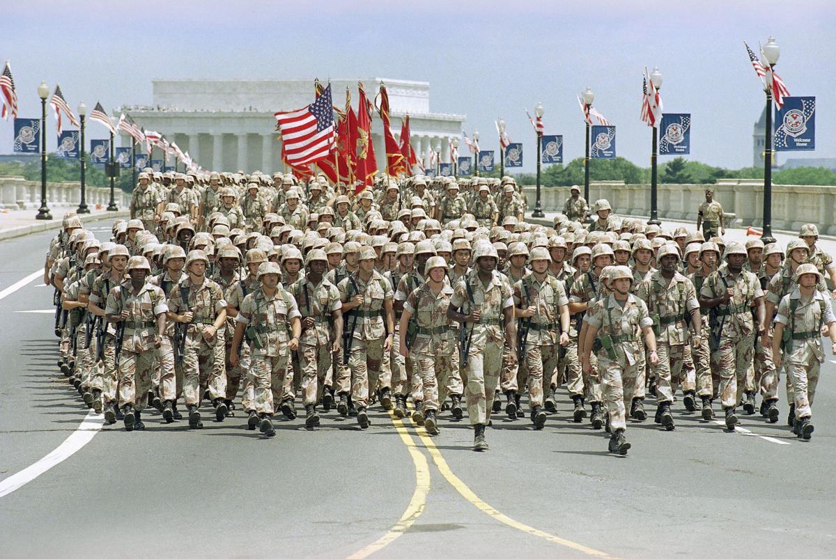 Gulf War 1991  Victory Celebration  USA