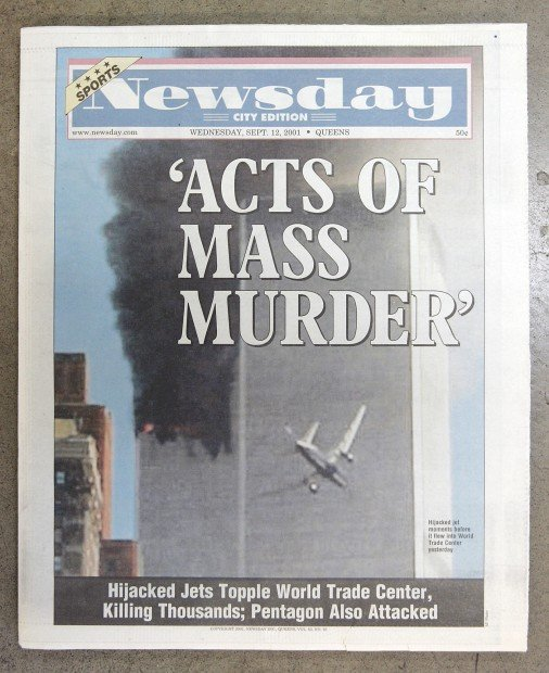 Michael Perry's 9/11 newspaper collection