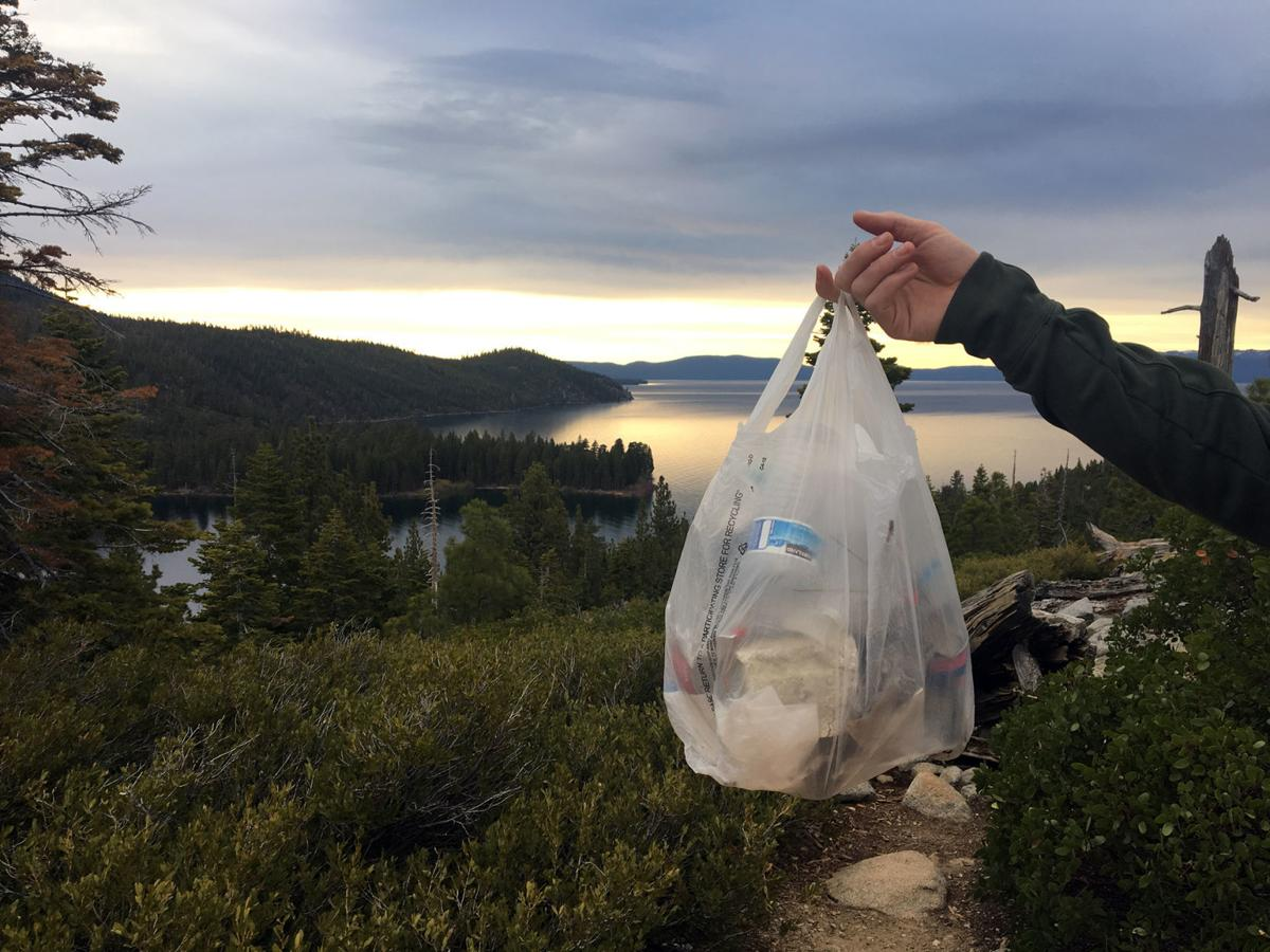 Lake Tahoe trash