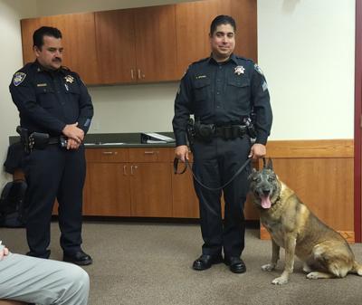 K9 Mac police dog honored