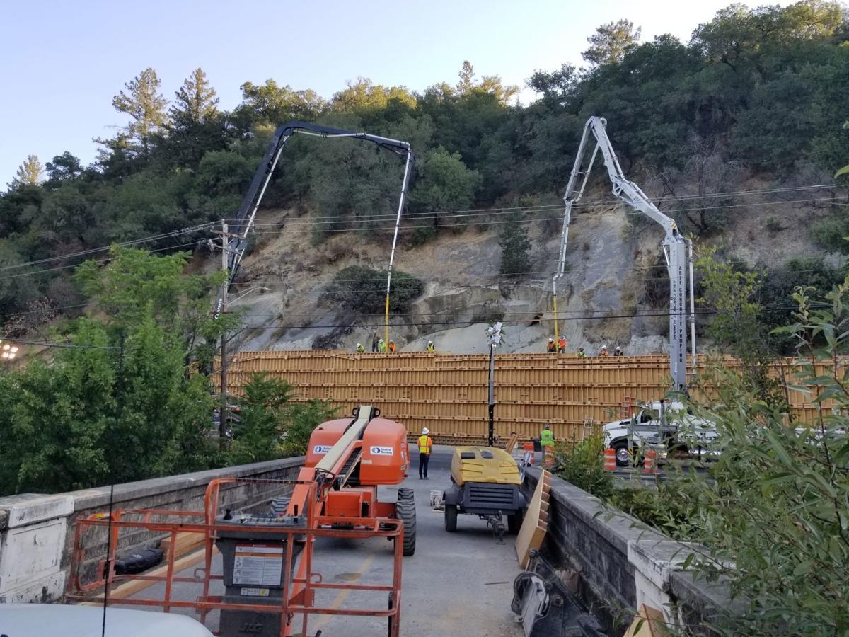 Silverado Trail slide repair