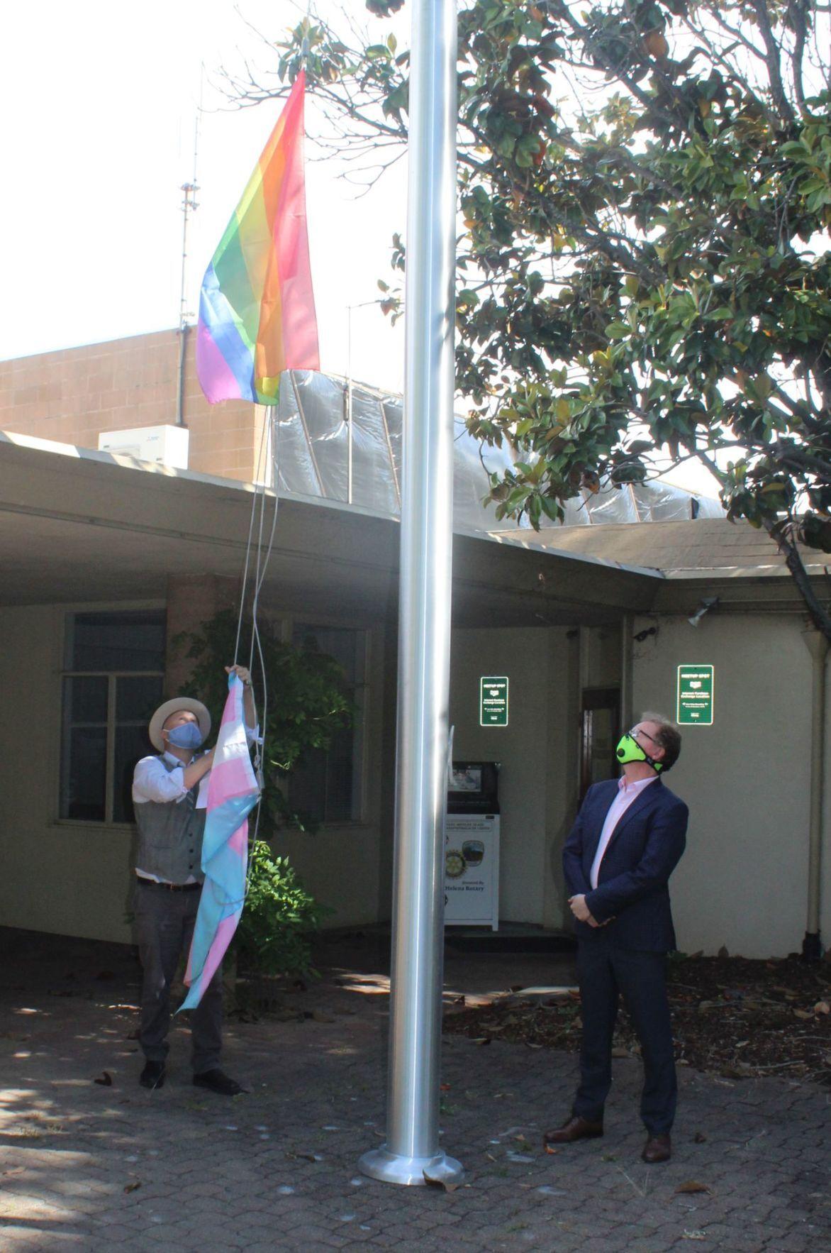 Ellsworth, Dohring raise flags