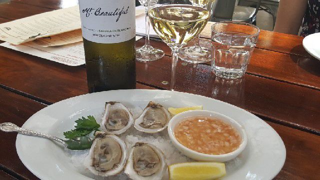 Mt Beautiful Sauvignon Blanc and Oysters