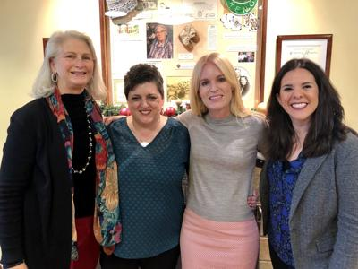 Rianda House Executive Director Julie Spencer, Collabria Care Director of Operations Celine Regalia, St. Helena Hospital Foundation President and CEO Susan Dix Lyons and St. Helena Hospital Foundation Director of Philanthropy Marci Atkison